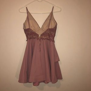 a'gaci Dresses - A'gaci dusty rose fit and flare dress